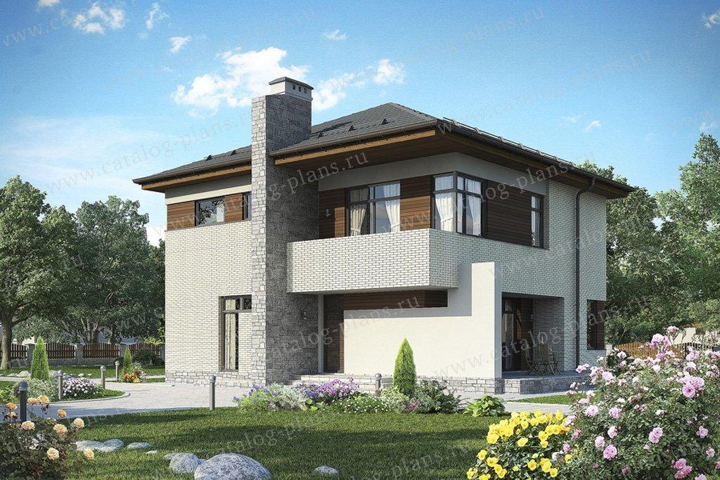 Проект жилой дом #49-94 материал - кирпич, стиль современный