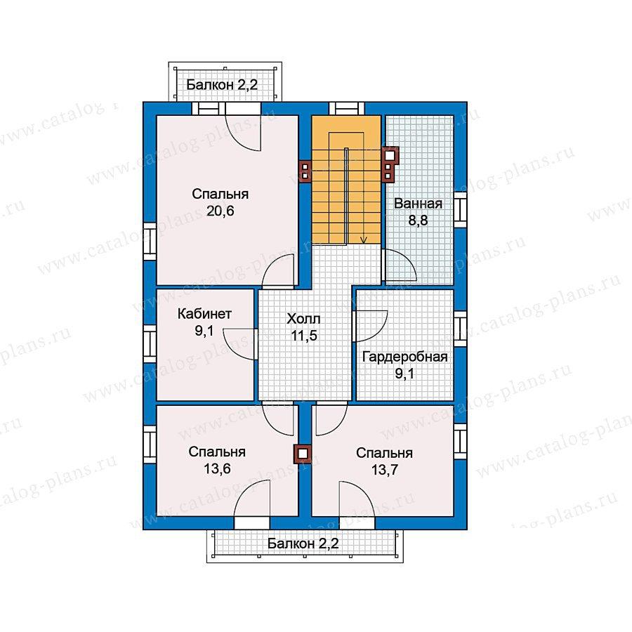 План 2-этажа проекта 49-79