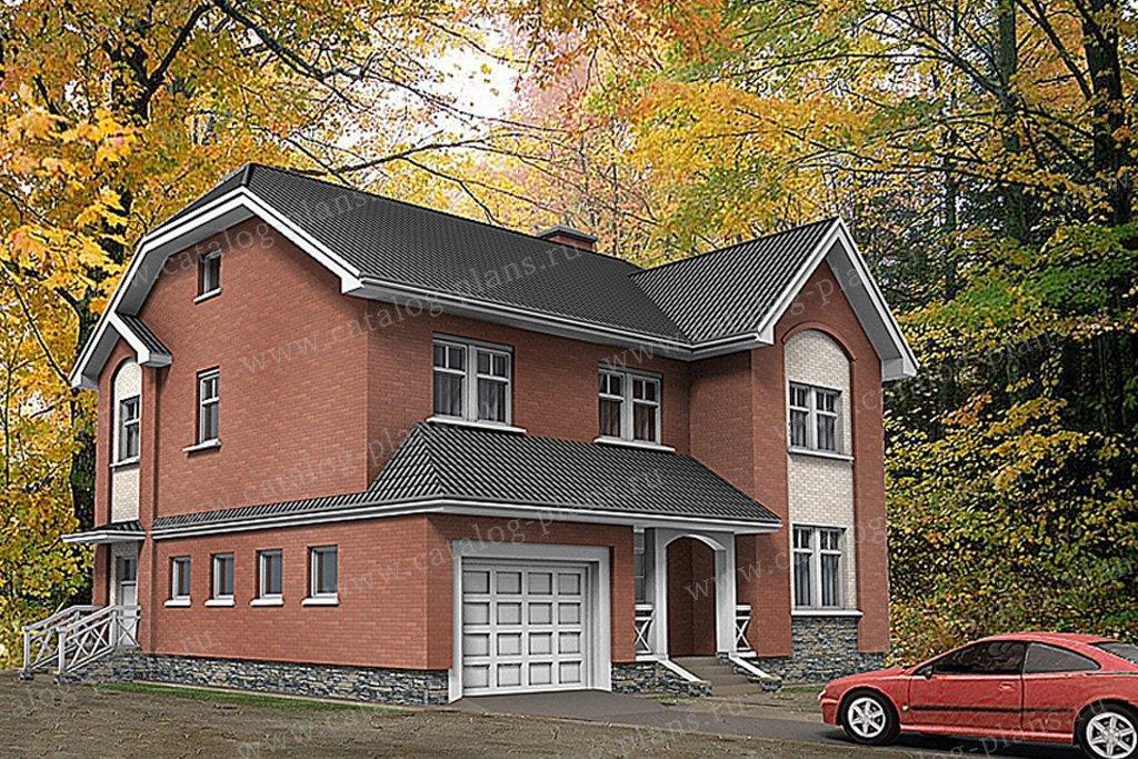 Проект жилой дом #49-80 материал - газобетон, стиль английский