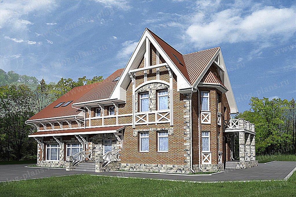 Проект жилой дом #49-87 материал - кирпич, стиль немецкий