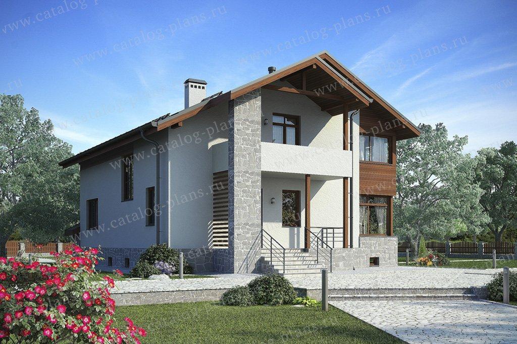 Проект жилой дом #49-90 материал - кирпич, стиль современный