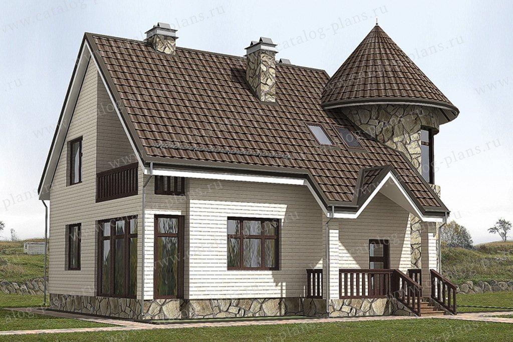 Проект жилой дом #49-85 материал - кирпич, стиль средневековый
