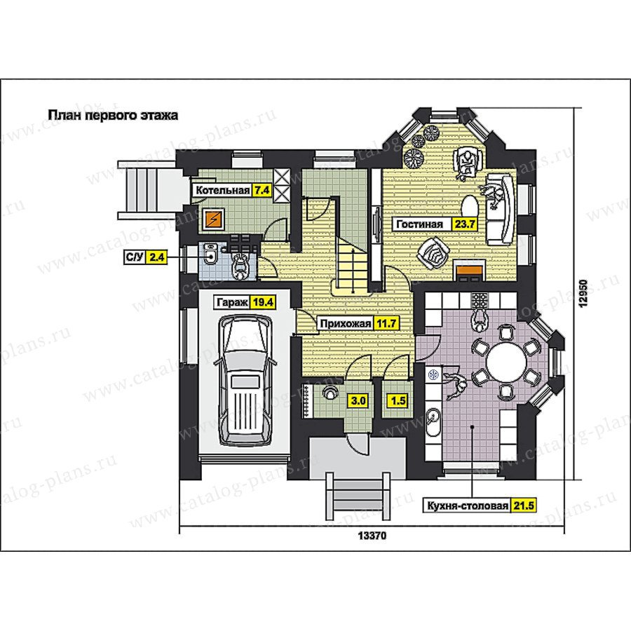 План 1-этажа проекта 49-80