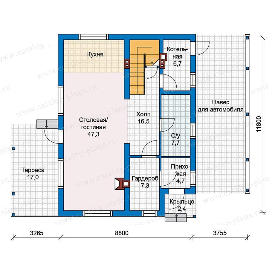 План 1-этажа проекта 49-79
