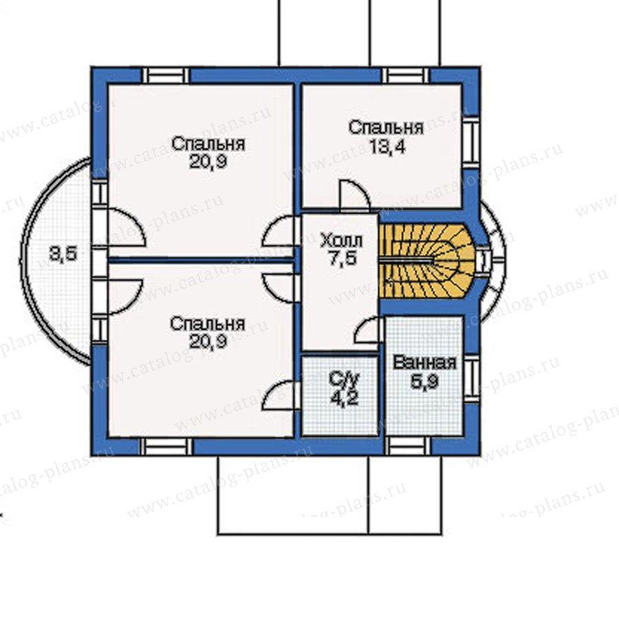 План 3-этажа проекта 50-04