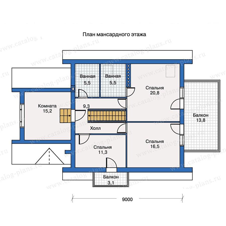 План 2-этажа проекта 50-20