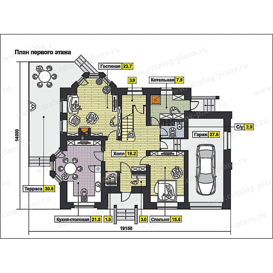 План 1-этажа проекта 49-81