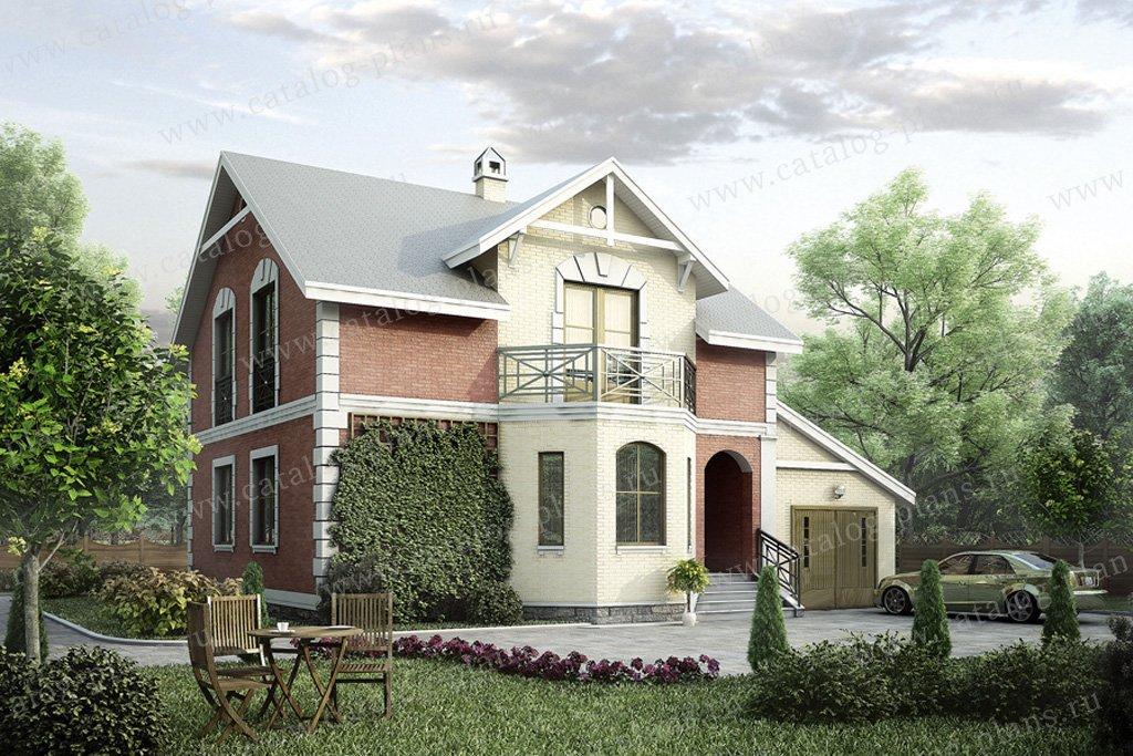 Проект жилой дом #50-11 материал - газобетон, стиль классический