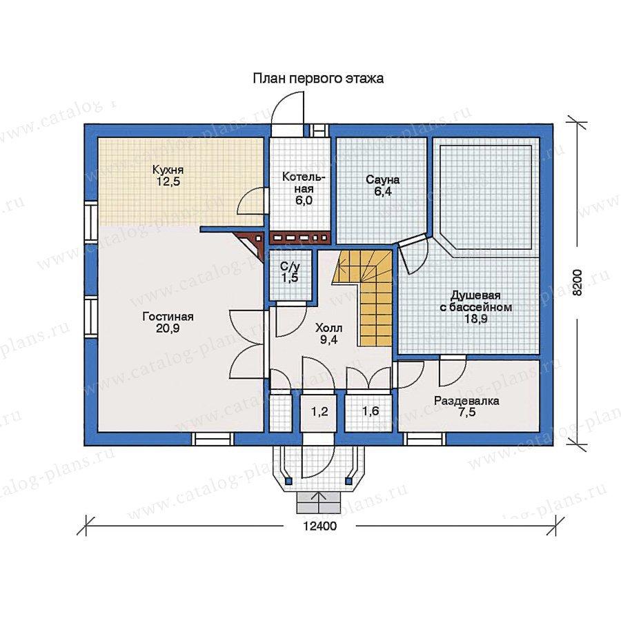 План 1-этажа проекта 50-55