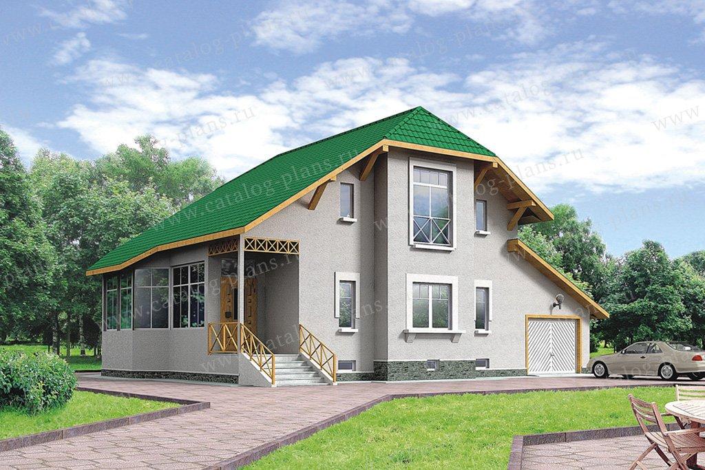 Проект жилой дом #50-10 материал - кирпич, стиль европейский