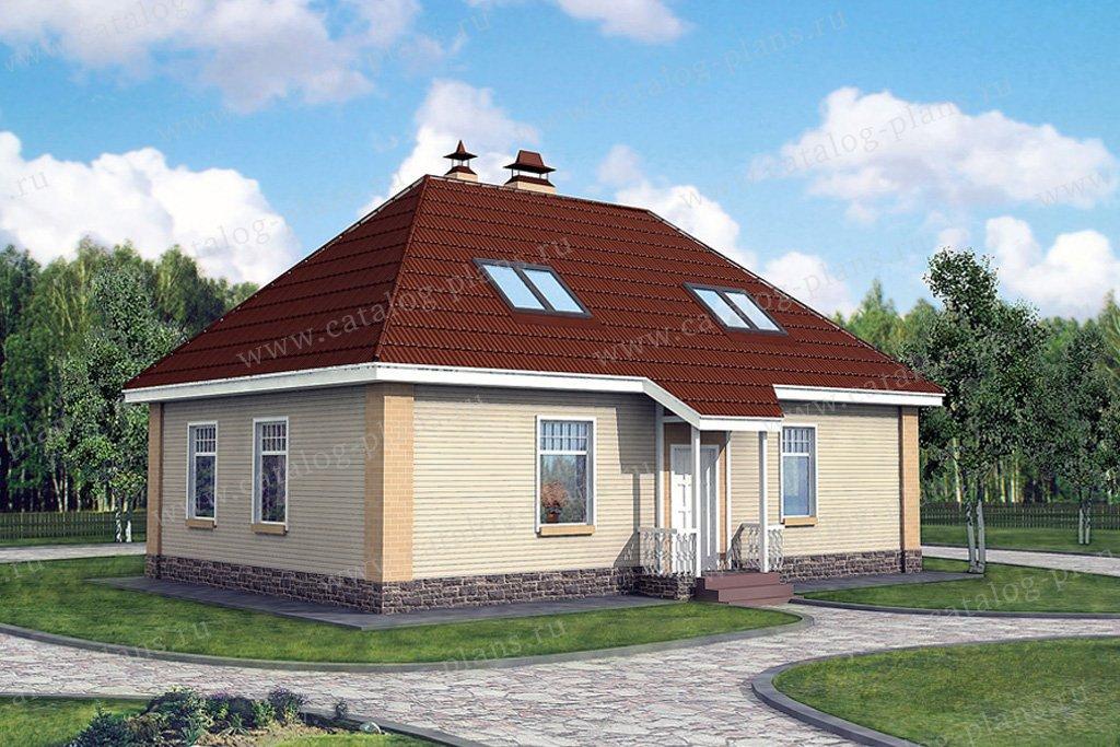 Проект жилой дом #50-55 материал - газобетон, стиль европейский
