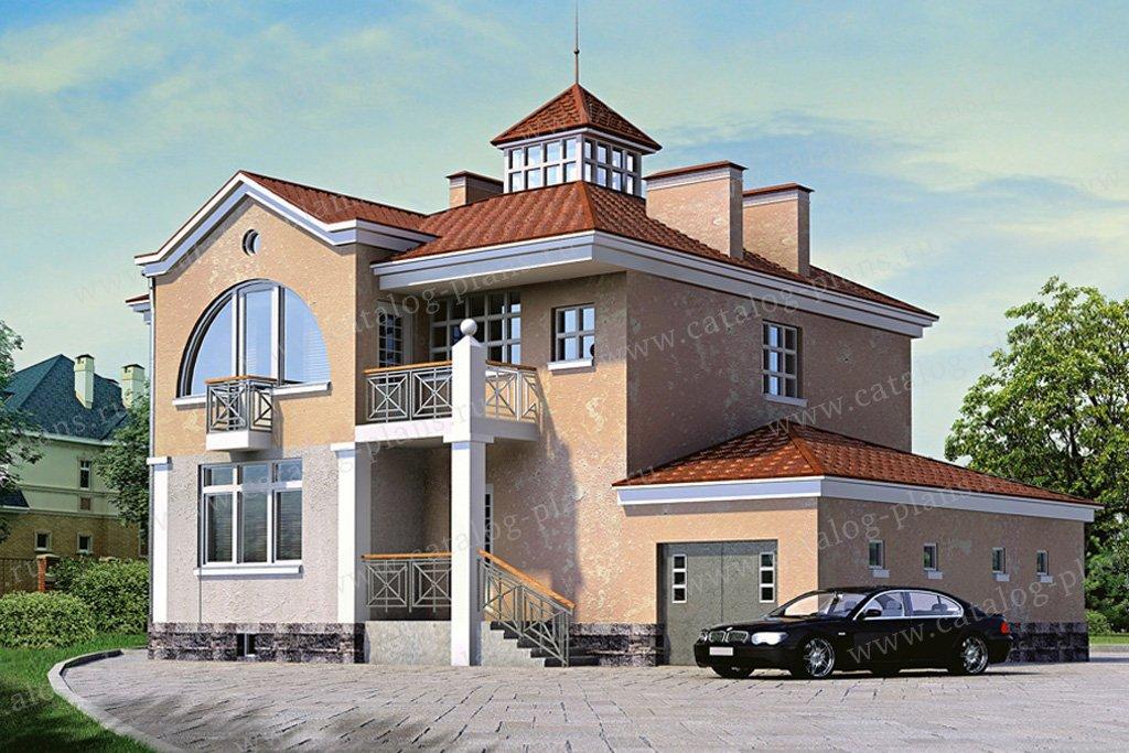Проект жилой дом #50-05 материал - кирпич, стиль модерн