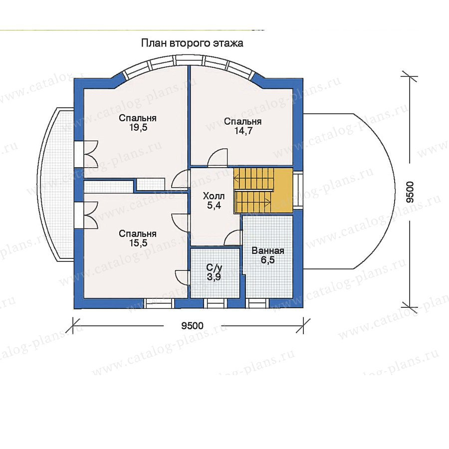 План 2-этажа проекта 50-12