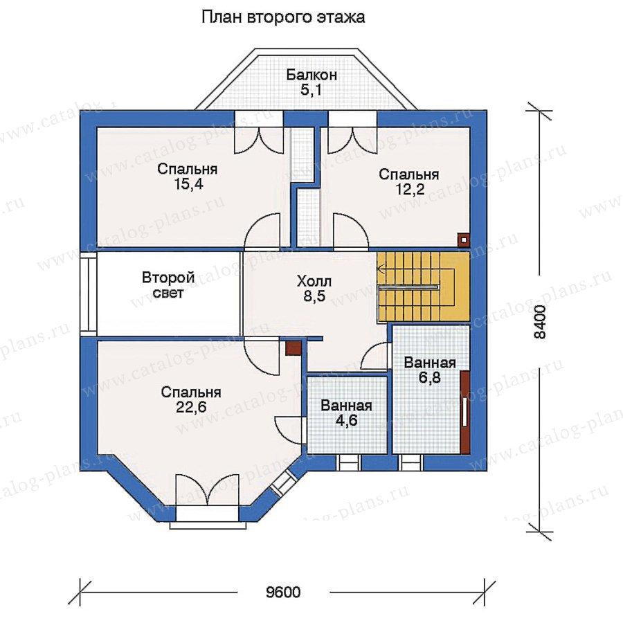 План 2-этажа проекта 50-02