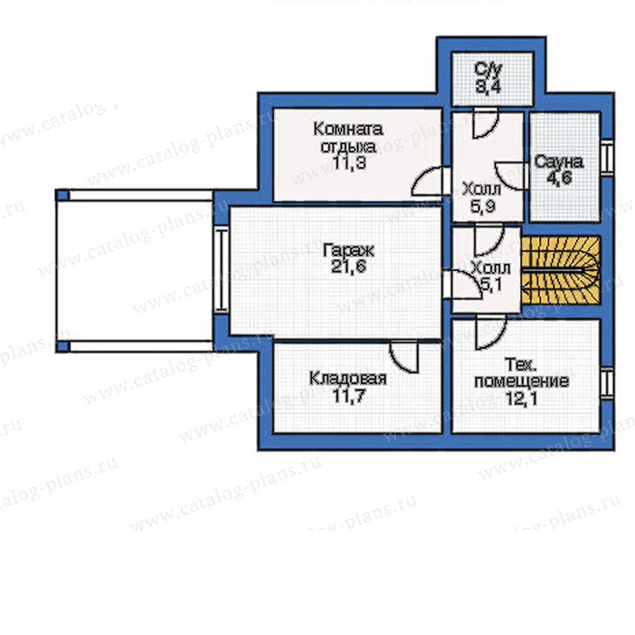 План 1-этажа проекта 50-04
