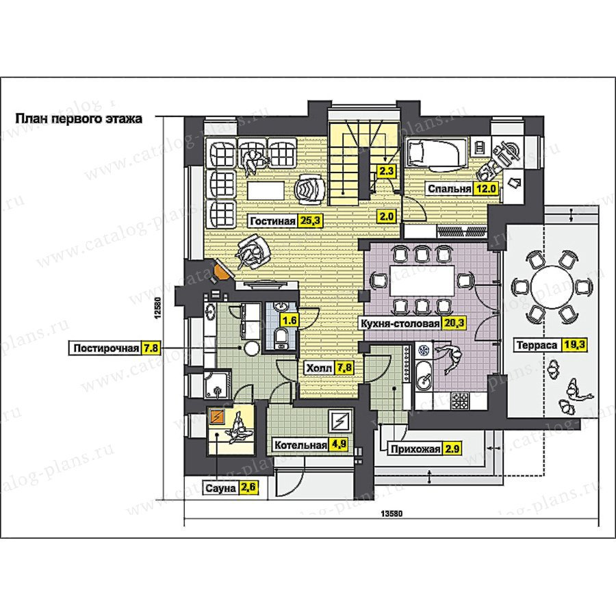 План 1-этажа проекта 49-94