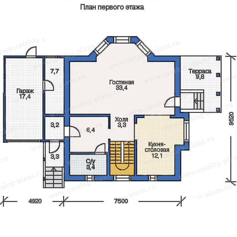План 2-этажа проекта 50-09