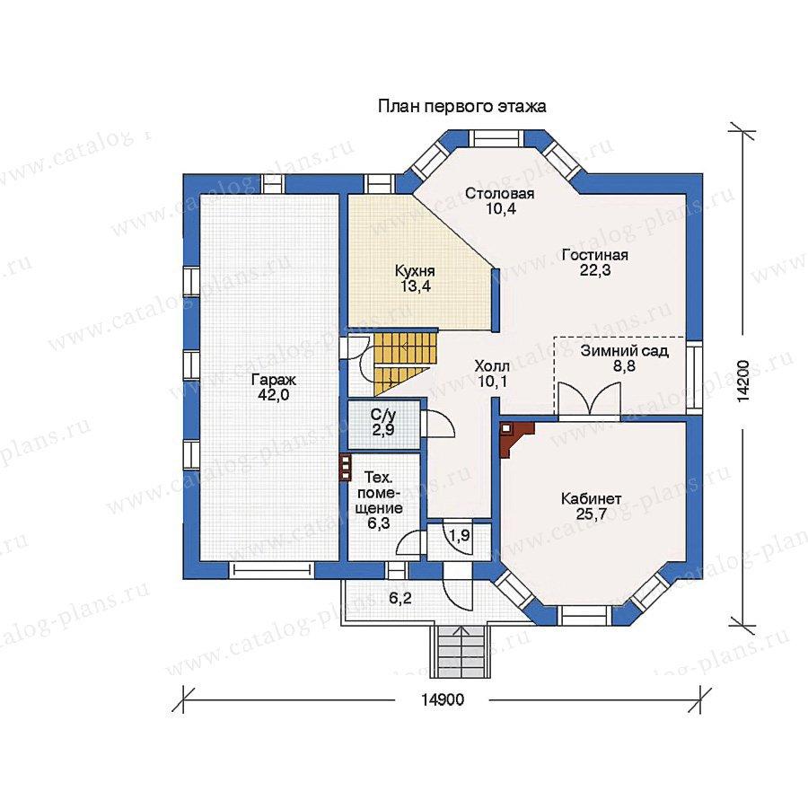 План 1-этажа проекта 50-06