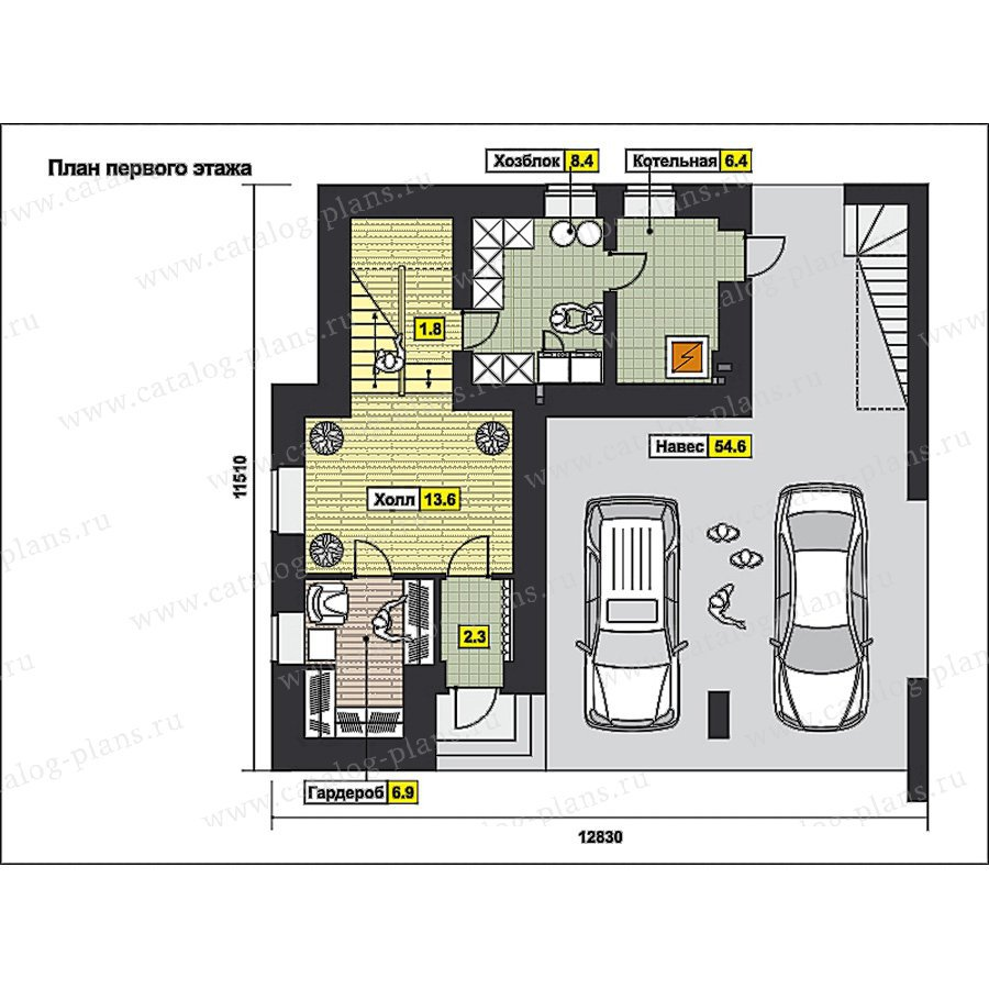 План 1-этажа проекта 49-98