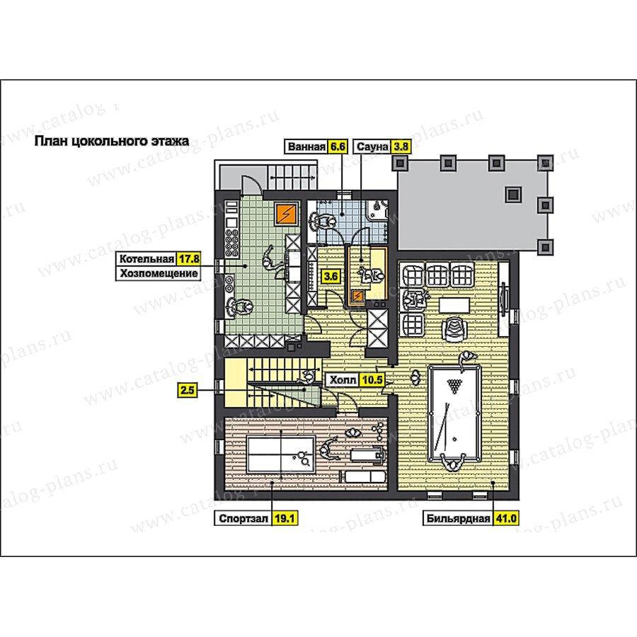 План 1-этажа проекта 49-90