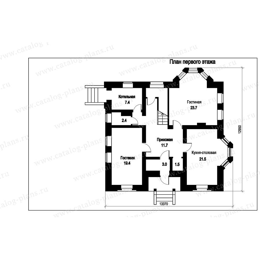 План 1-этажа проекта 49-84