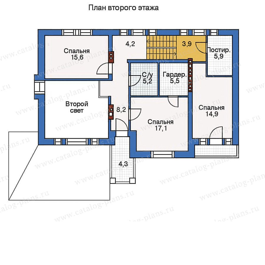 План 3-этажа проекта 50-43