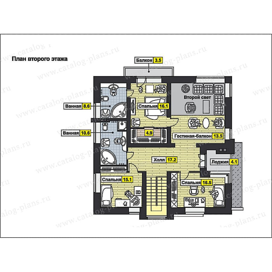 План 2-этажа проекта 49-93