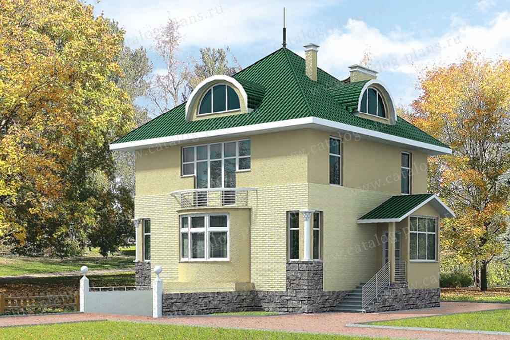 Проект жилой дом #50-04 материал - кирпич, стиль классический