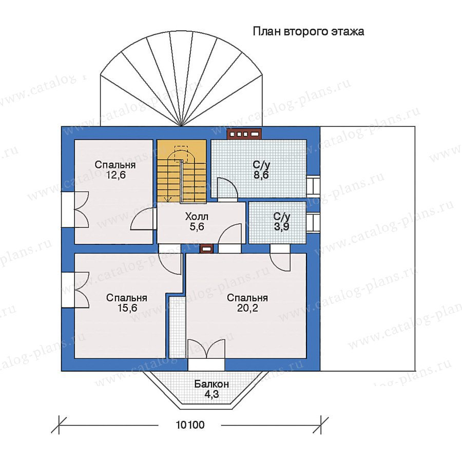 План 2-этажа проекта 50-11