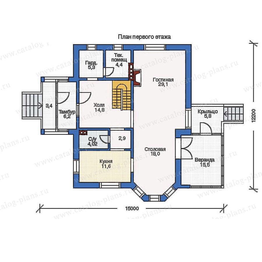 План 1-этажа проекта 50-08