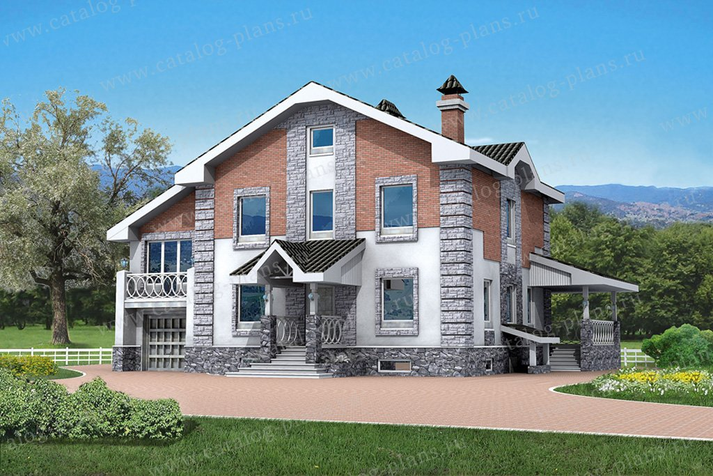 Проект жилой дом #50-76 материал - газобетон, стиль европейский