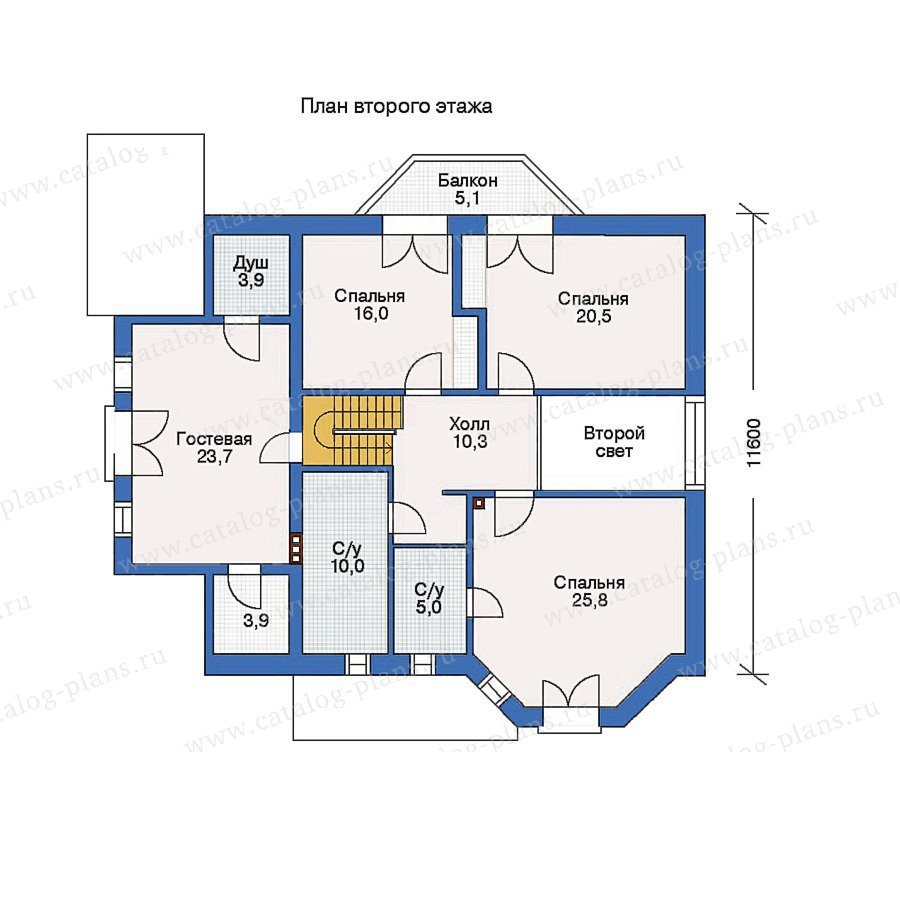 План 2-этажа проекта 50-06