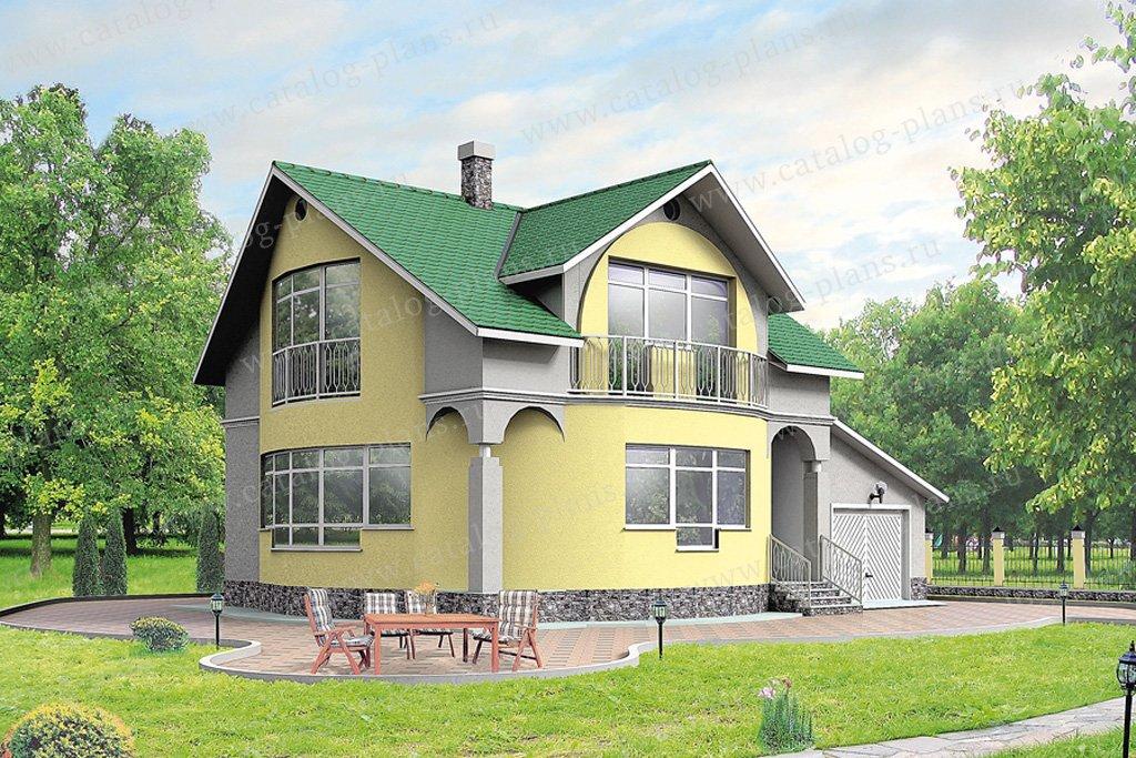 Проект жилой дом #50-12 материал - кирпич, стиль европейский