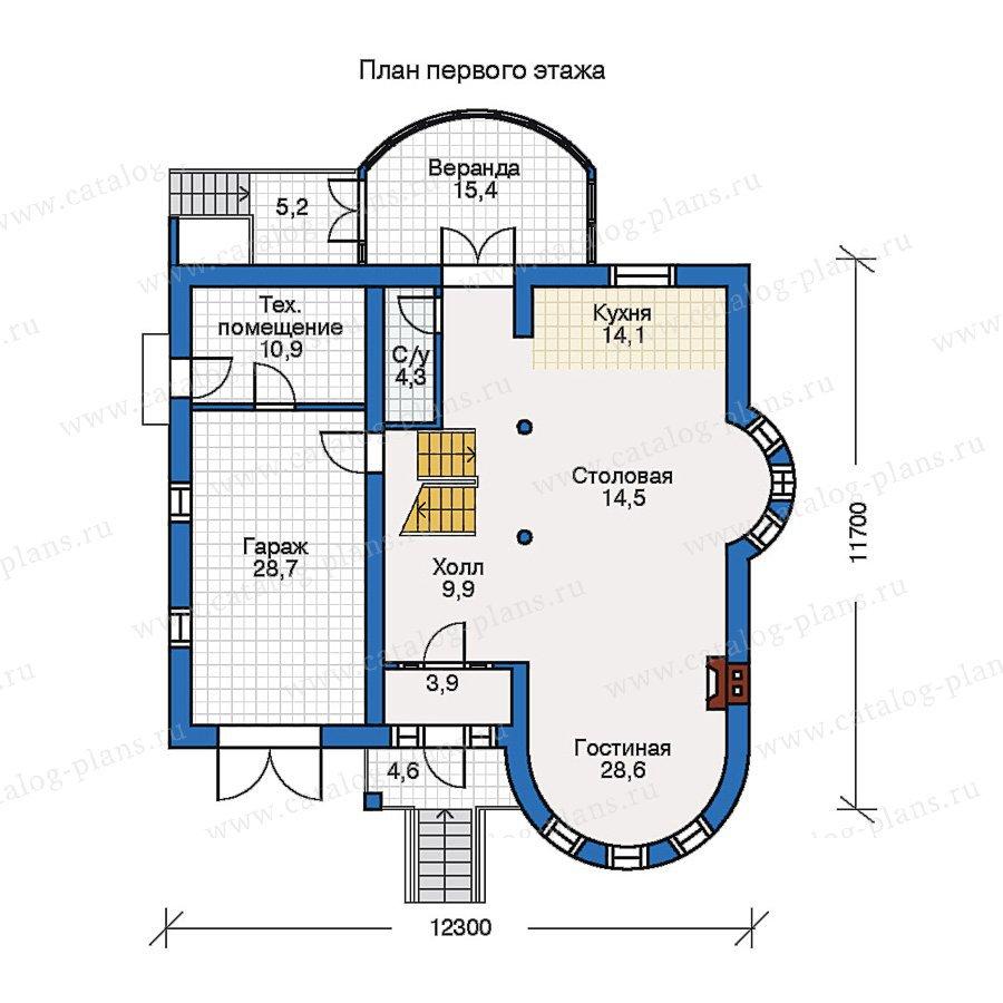 План 1-этажа проекта 50-66