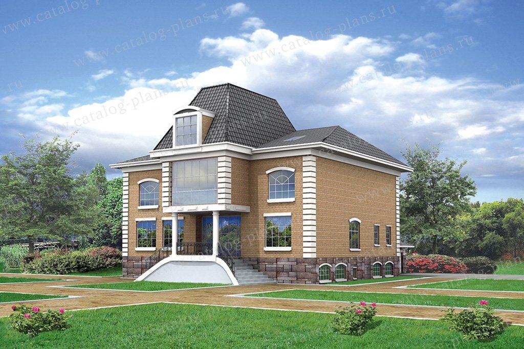 Проект жилой дом #50-81 материал - пенобетон, стиль европейский
