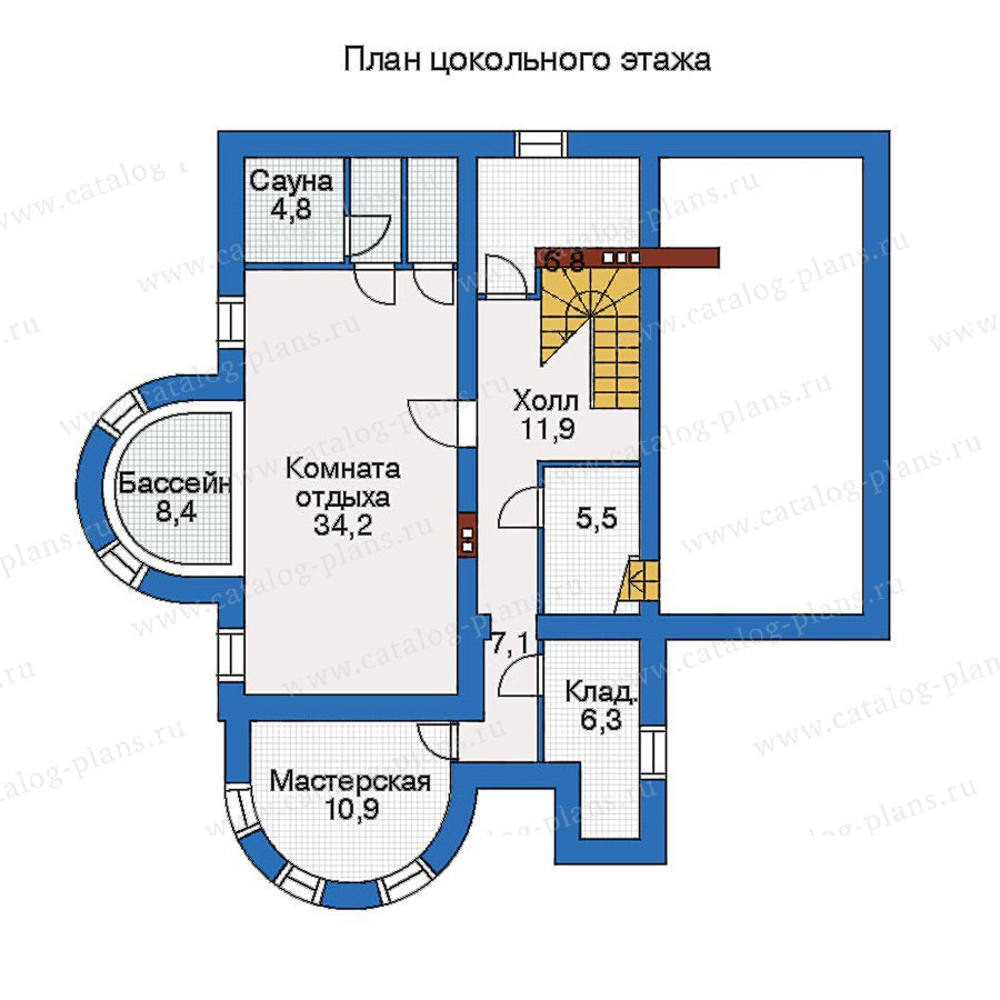 План 1-этажа проекта 50-21