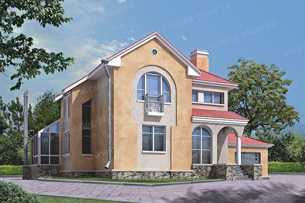 Проект жилой дом #50-67 материал - газобетон, стиль европейский