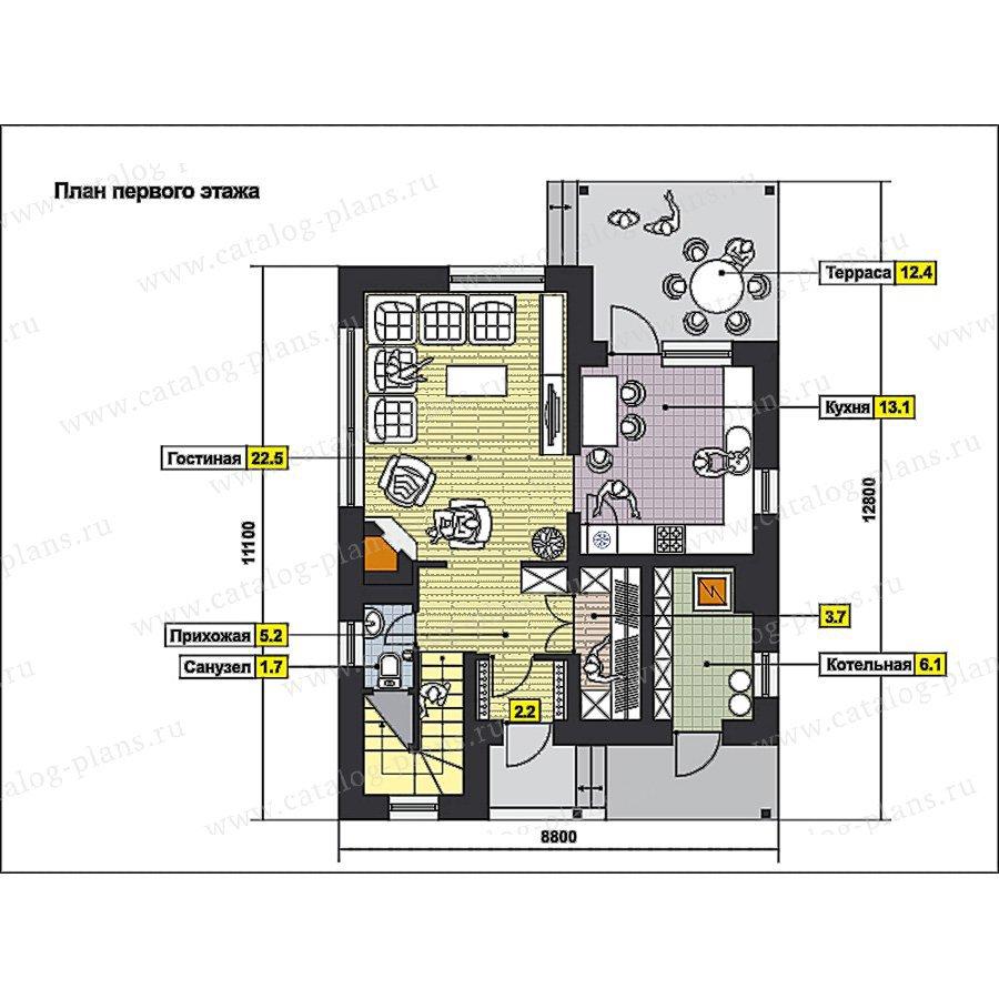 План 1-этажа проекта 49-97