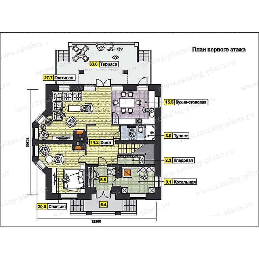 План 1-этажа проекта 49-89