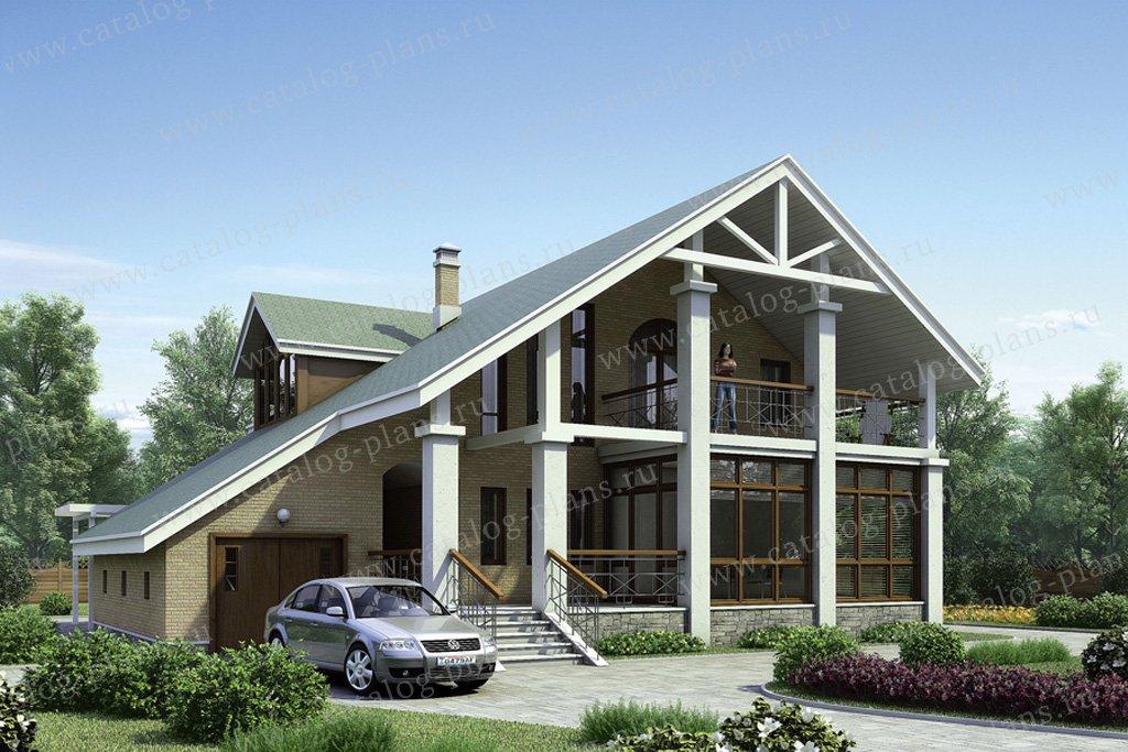 Проект жилой дом #50-01 материал - кирпич, стиль скандинавский