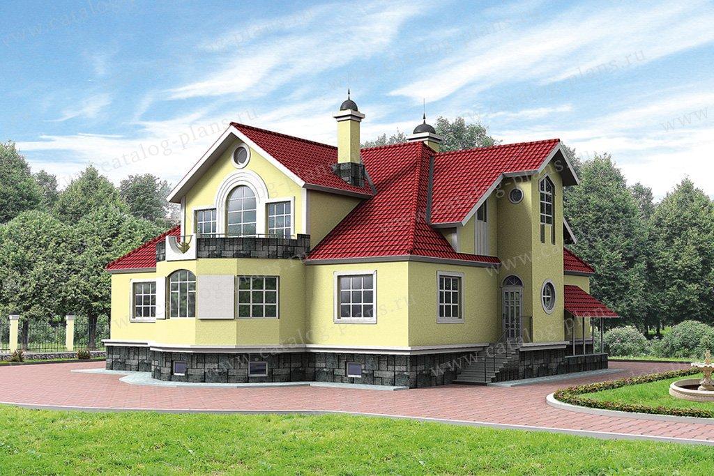 Проект жилой дом #50-42 материал - газобетон, стиль классический