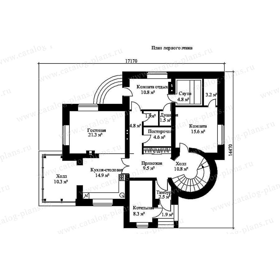 План 1-этажа проекта 49-86