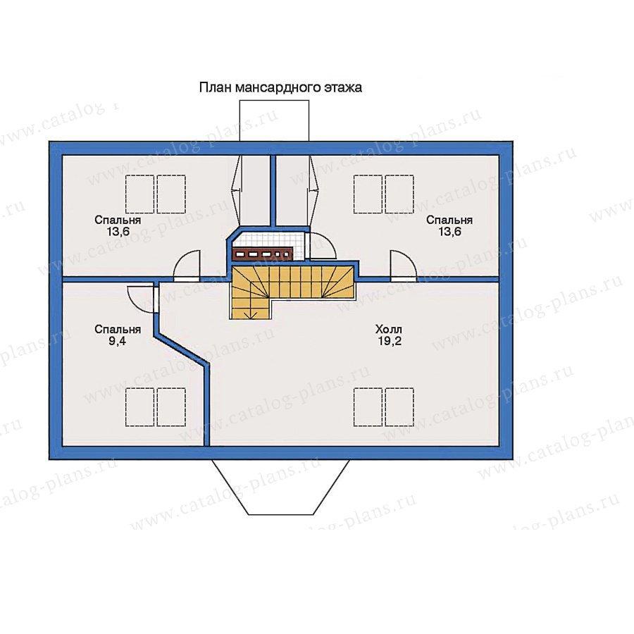 План 2-этажа проекта 50-55