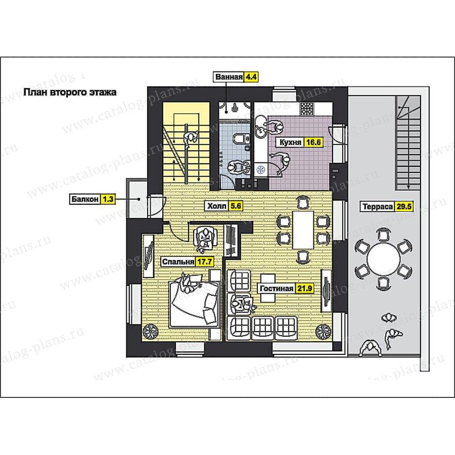 План 2-этажа проекта 49-98