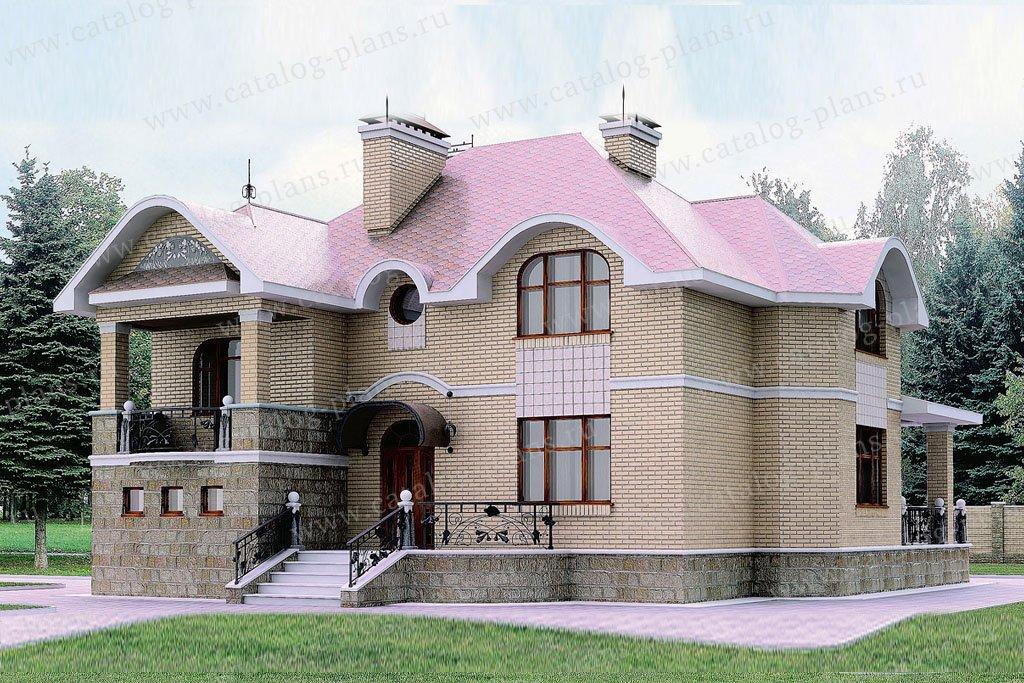 Проект жилой дом #50-84 материал - газобетон, стиль классический
