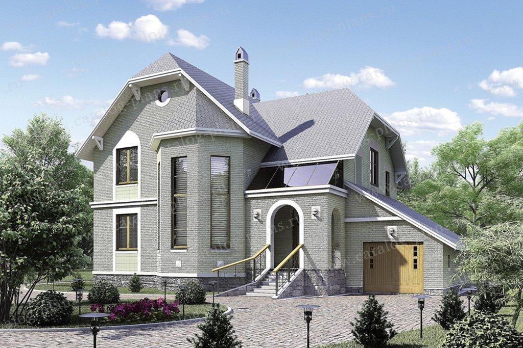 Проект жилой дом #50-70 материал - газобетон, стиль немецкий