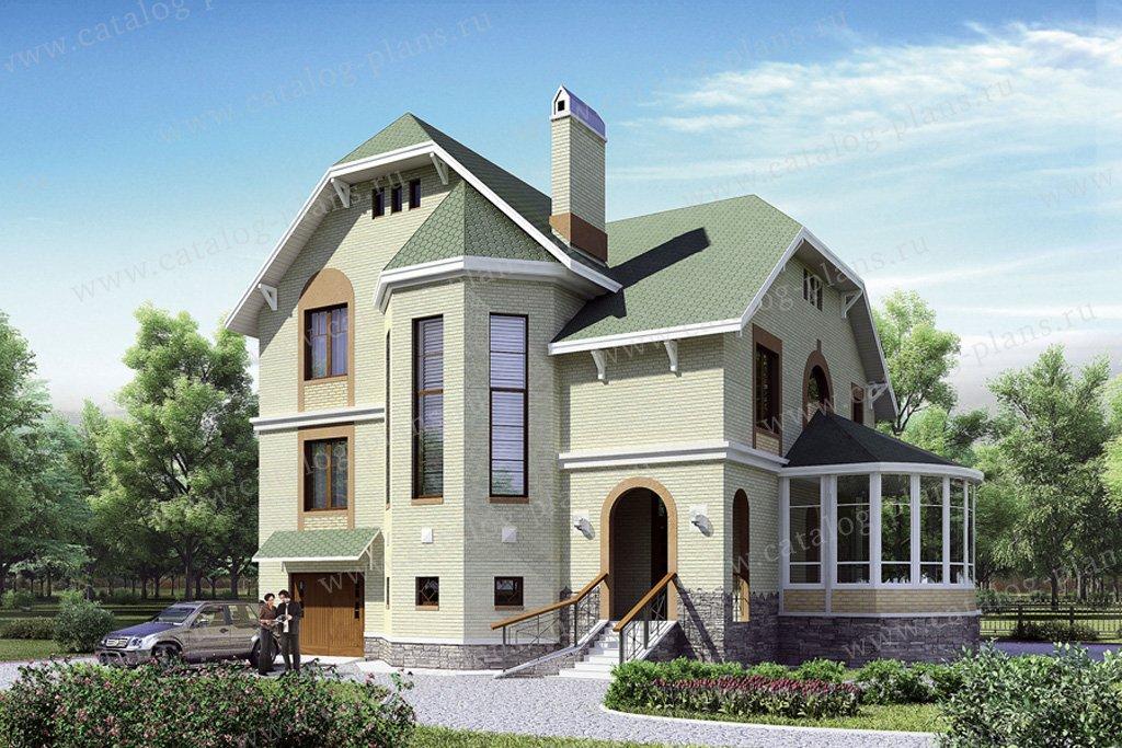 Проект жилой дом #50-69 материал - газобетон, стиль немецкий