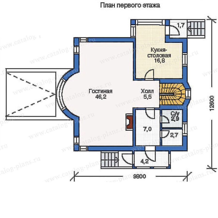 План 2-этажа проекта 50-04