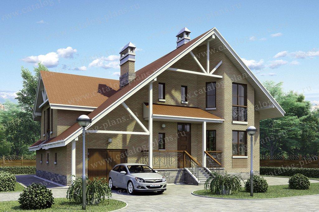 Проект жилой дом #50-06 материал - газобетон, стиль скандинавский