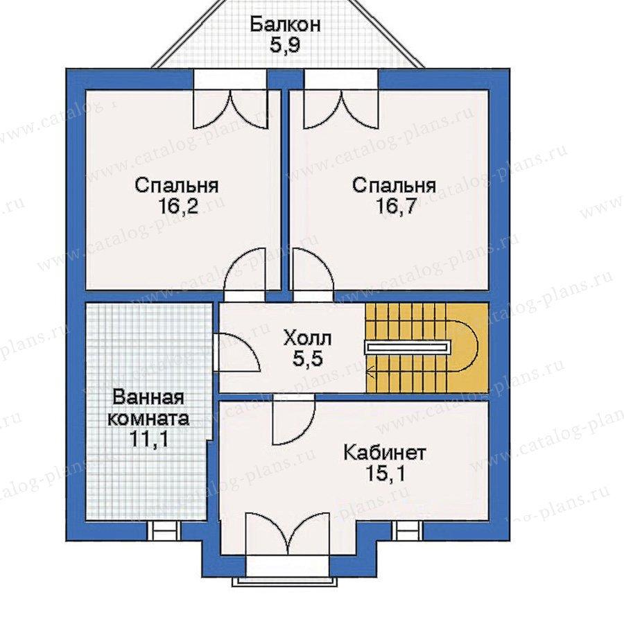 План 3-этажа проекта 50-10